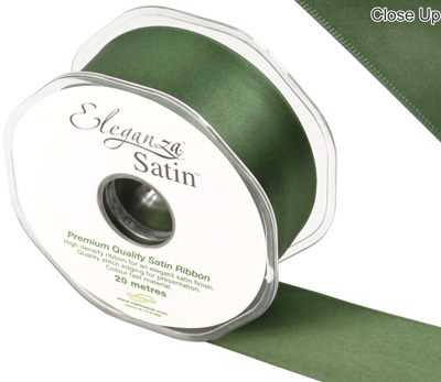 Eleganza Double Faced Satin 38mm x 20m Sage Green No.51 - Ribbons
