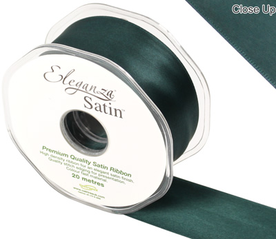 Eleganza Double Faced Satin 38mm x 20m  Green No.50 - Ribbons