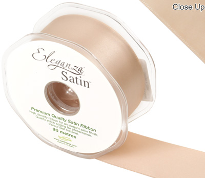 Eleganza Double Faced Satin 38mm x 20m Champagne Gold No.64 - Ribbons