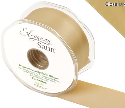 Eleganza Double Faced Satin 38mm x 20m Gold No.35 - Ribbons