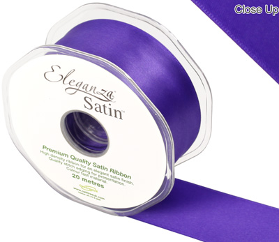 Eleganza Double Faced Satin 38mm x 20m Purple No.36 - Ribbons