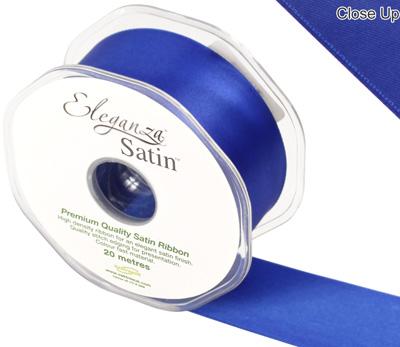 Eleganza Double Faced Satin 38mm x 20m  Royal Blue No.18 - Ribbons