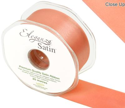 Eleganza Double Faced Satin 38mm x 20m Coral No.79 - Ribbons