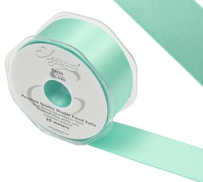 Eleganza Double Faced Satin 38mm x 20m Mint No.13 - Ribbons