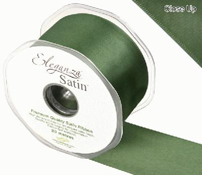 Eleganza Double Faced Satin 50mm x 20m Sage Green No.51 - Ribbons