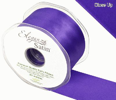 Eleganza Double Faced Satin 50mm x 20m Purple No.36 - Ribbons