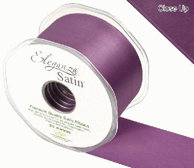 Eleganza Double Faced Satin 50mm x 20m Damson No.48 - Ribbons