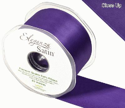 Eleganza Double Faced Satin 50mm x 20m Plum No.49 - Ribbons