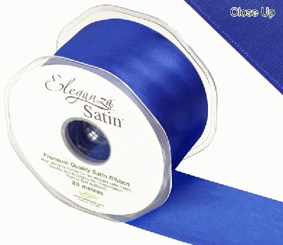 Eleganza Double Faced Satin 50mm x 20m Royal Blue No.18 - Ribbons