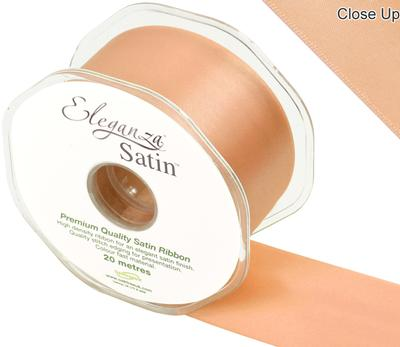 Eleganza Double Faced Satin 50mm x 20m Peach No.05 - Ribbons