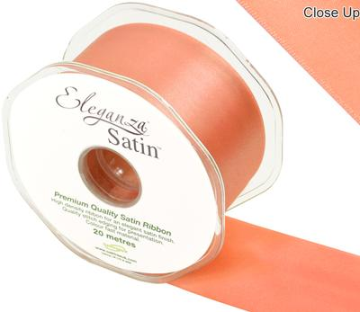Eleganza Double Faced Satin 50mm x 20m Coral No.79 - Ribbons