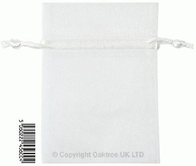 Eleganza bags 7cm x 10cm (10pcs) White No.01 - Gift Boxes / Bags