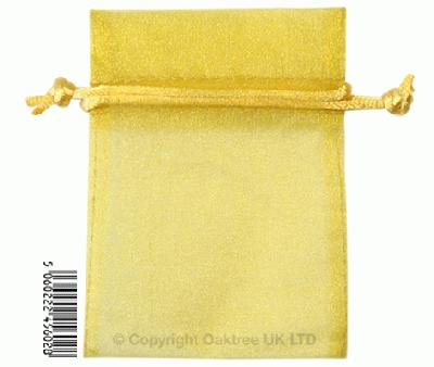 Eleganza bags 7cm x 10cm (10pcs) Gold No.35B - Gift Boxes / Bags