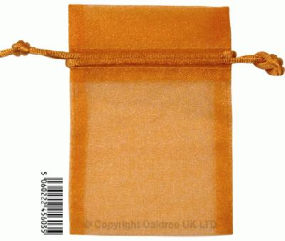 Eleganza bags 7cm x 10cm (10pcs) Copper No.23 - Gift Boxes / Bags