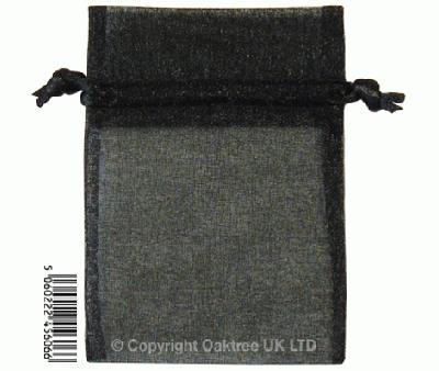 Eleganza bags 7cm x 10cm (10pcs) Black No.20 - Gift Boxes / Bags