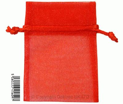 Eleganza bags 7cm x 10cm (10pcs) Red No.16 - Gift Boxes / Bags