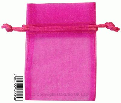 Eleganza bags 7cm x 10cm (10pcs) Fuchsia No.28 - Gift Boxes / Bags