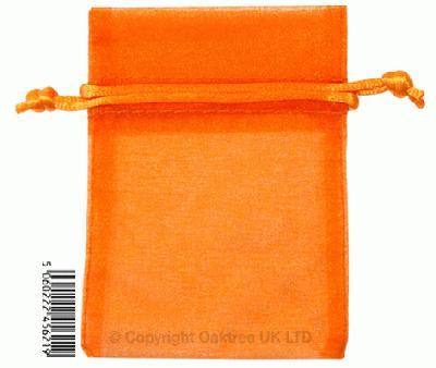 Eleganza bags 7cm x 10cm (10pcs) Orange No.04 - Gift Boxes / Bags