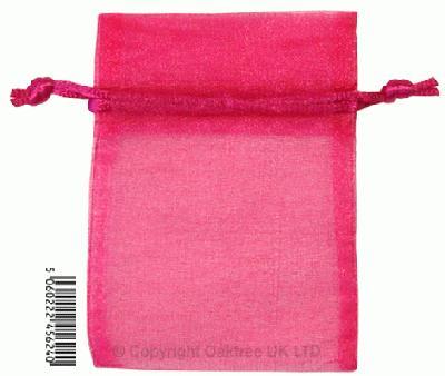 Eleganza bags 7cm x 10cm (10pcs) Deep Cerise No.30 - Gift Boxes / Bags