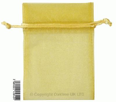 Eleganza bags 9cm x 12.5cm (10pcs) Gold No.35B - Gift Boxes / Bags