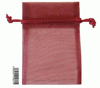Eleganza bags 9cm x 12.5cm (10pcs) Burgundy No.17 - Gift Boxes / Bags