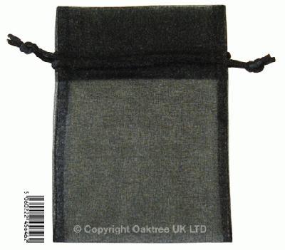 Eleganza bags 9cm x 12.5cm (10pcs) Black No.20 - Gift Boxes / Bags