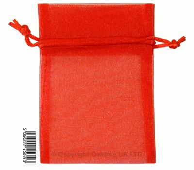 Eleganza bags 9cm x 12.5cm (10pcs) Red No.16 - Gift Boxes / Bags