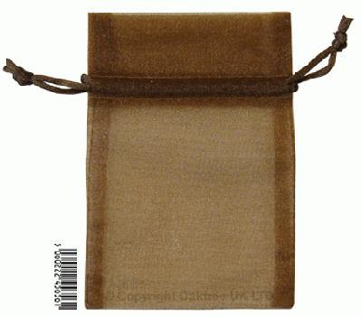 Eleganza bags 9cm x 12.5cm (10pcs) Chocolate No.58 - Gift Boxes / Bags