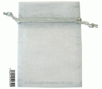 Eleganza bags 9cm x 12.5cm (10pcs) Silver No.24 - Gift Boxes / Bags