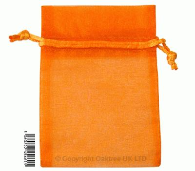 Eleganza bags 9cm x 12.5cm (10pcs) Orange No.04 - Gift Boxes / Bags