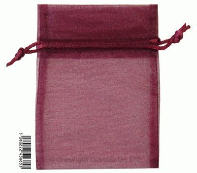 Eleganza bags 9cm x 12.5cm (10pcs) Aubergine No.32 - Gift Boxes / Bags