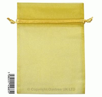 Eleganza bags 12cm x 17cm (10pcs) Gold No.35B - Gift Boxes / Bags