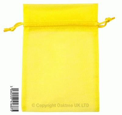 Eleganza bags 12cm x 17cm (10pcs) Yellow No.11 - Gift Boxes / Bags