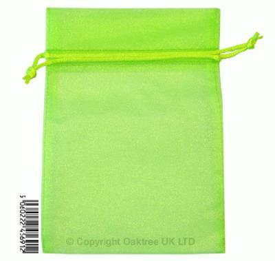 Eleganza bags 12cm x 17cm (10pcs) Lime green No.14 - Gift Boxes / Bags