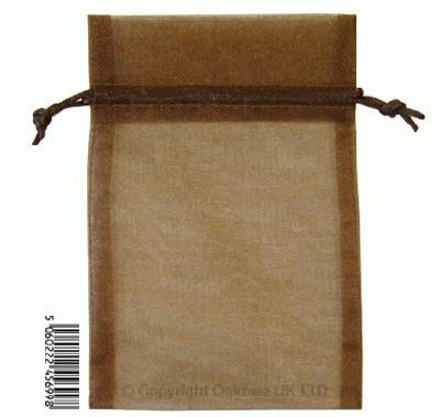 Eleganza bags 12cm x 17cm (10pcs) Chocolate No.58 - Gift Boxes / Bags
