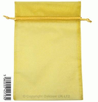 Eleganza bags 15cm x 22.5cm (10pcs) Gold No.35B - Gift Boxes / Bags