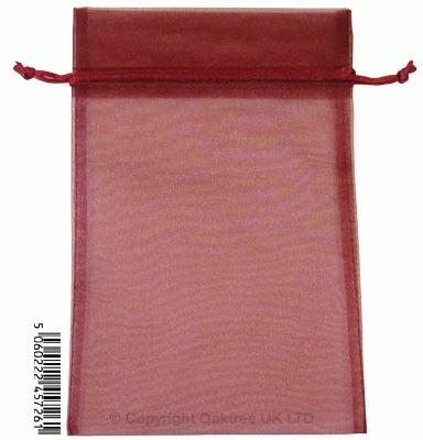 Eleganza bags 15cm x 22.5cm (10pcs) Burgundy No.17 - Gift Boxes / Bags