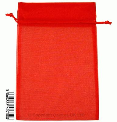 Eleganza bags 15cm x 22.5cm (10pcs) Red No.16 - Gift Boxes / Bags