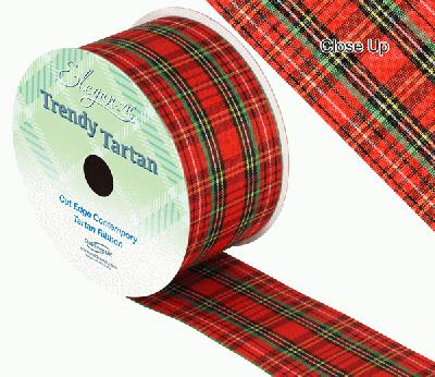 Trendy Tartan Pattern 250 50mm x 20m - Ribbons