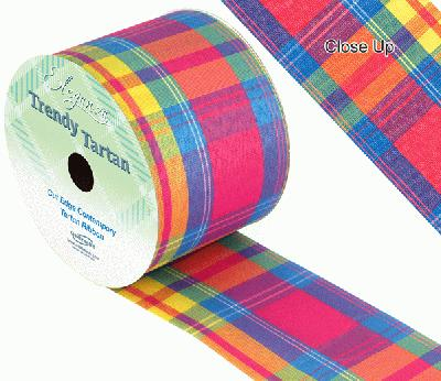 TrendyTartan Pattern 253 70mm x 20m - Ribbons