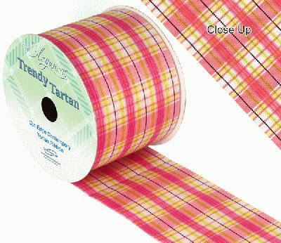 TrendyTartan Pattern 255 70mm x 20m - Ribbons