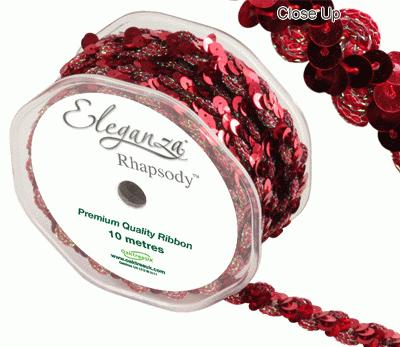 Eleganza Rhapsody 18mm x 10m Red No.16 - Ribbons