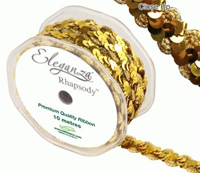Eleganza Rhapsody 18mm x 10m Gold No.35 - Ribbons