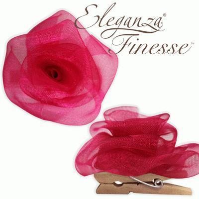 Eleganza Finesse Clip Roses Deep Cerise - Accessories