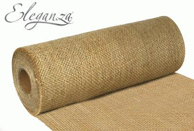 Eleganza Rustic Hessian Cut Edge 29cm x 9.1m Natural No.02 - Ribbons