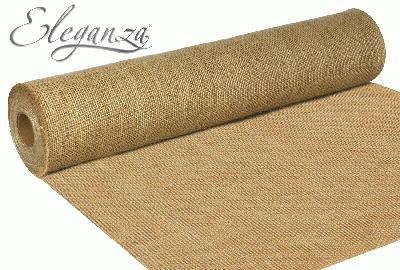 Eleganza Rustic Hessian Cut Edge 50cm x 9.1m Natural No.02 - Ribbons