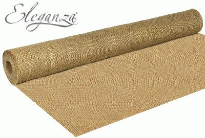 Eleganza Rustic Hessian Cut Edge 77cm x 9.1m Natural No.02 - Ribbons