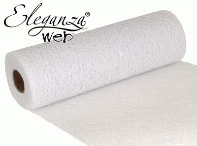 Eleganza Web Fabric roll 28cm x 10m White No.01 - Organza / Fabric