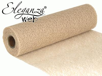 Eleganza Web Fabric roll 28cm x 10m Ivory No.61 - Organza / Fabric