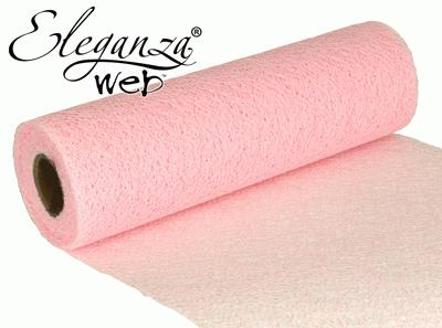 Eleganza Web Fabric roll 28cm x 10m Lt. Pink No.21 - Organza / Fabric